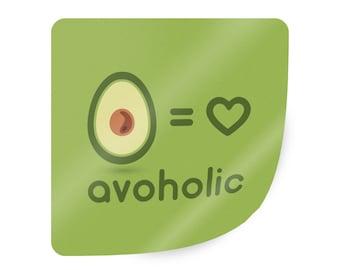 Avocado sticker. Avocado vinyl sticker. Funny avocado sticker. Avocado lover gifts. Avocado design. Avocado label. Vegan lover sticker.