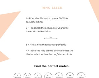 picture about Printable Mens Ring Size Chart named Ring sizing chart Etsy