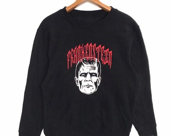 9bf18de2c21c Unbranded sweatshirt Frankenstein big printed logo horror cartoon movies  shirt for hypebeast hiphop hipster swagger asap Rocky