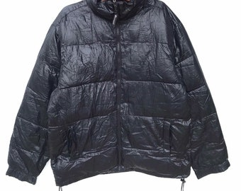 bd8fe6b7eb56 Vintage champion puffer jacket down jacket Windbreaker solid black Color  Small Embroidered Logo For Hypebeast Hiphop Swagger Asap Rocky