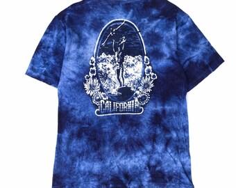 6a5ba5927969 Vintage japanese surf t shirt california big logo hawaii guam t shirt acid wash  tie dye shirt