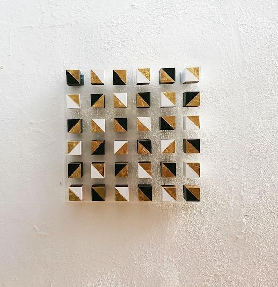Wood Wall Art C 3d Art Wooden Mosaic Modern Wood Art 3d Wood Wood Cube Modern Wall Art 3d Wood Wooden Block Cubes Cube Art Art