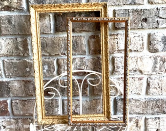 """Ornate  wood frame 7 1/4"""" x 13 1/4"""" Oil painting Fine Art Bronze Art frame DIY frame your art project  Made in USA by Nicolai studio"""