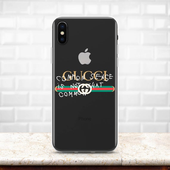 064553d09cfdd Common Sense Gucci Inspired Gucci Logo case iPhone XR case Clear case  iPhone XS Max case Galaxy S10 case Silicone case Note 9 iPhone 8 Plus