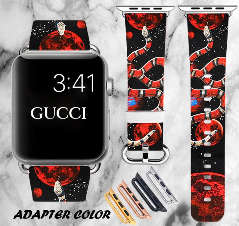 7ea01e30a22 Inspired by Gucci Apple Watch Band 40mm Space iWatch Band 44mm