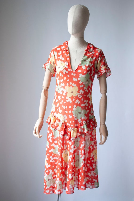 Vintage 1930's Printed Cotton Day Dress