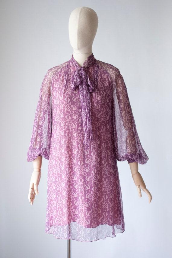 Designer Vintage 1960's Jean Muir Silk Chiffon Min