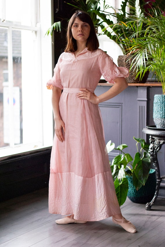 Vintage 1930's Cotton Organza Dress