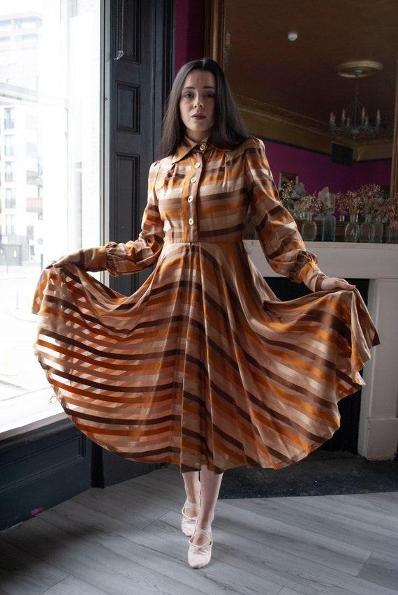 Vintage 1960's Jean Varon Cotton Sateen Dress