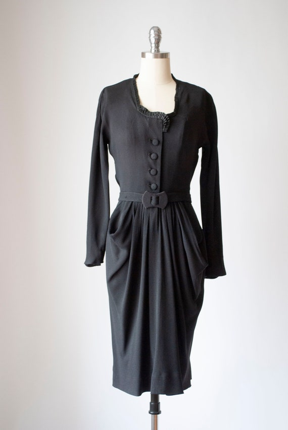 Vintage 1940's Crepe Day Dress