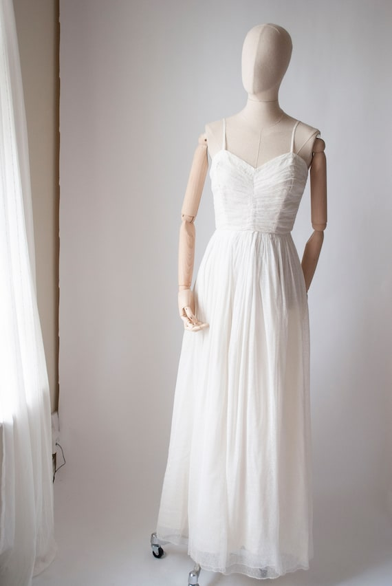 Vintage 1950's Tulle and Net Gown