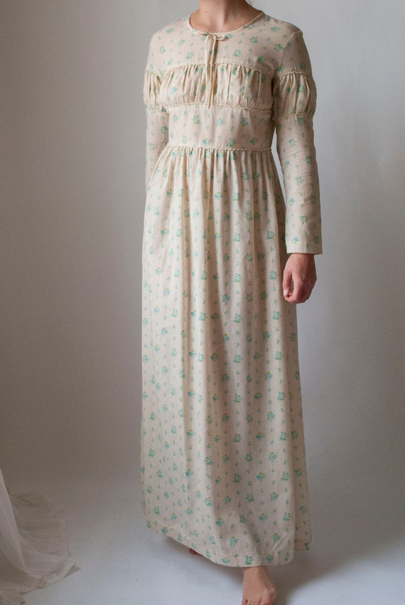 Vintage 1970's Printed Cotton Prairie Dress