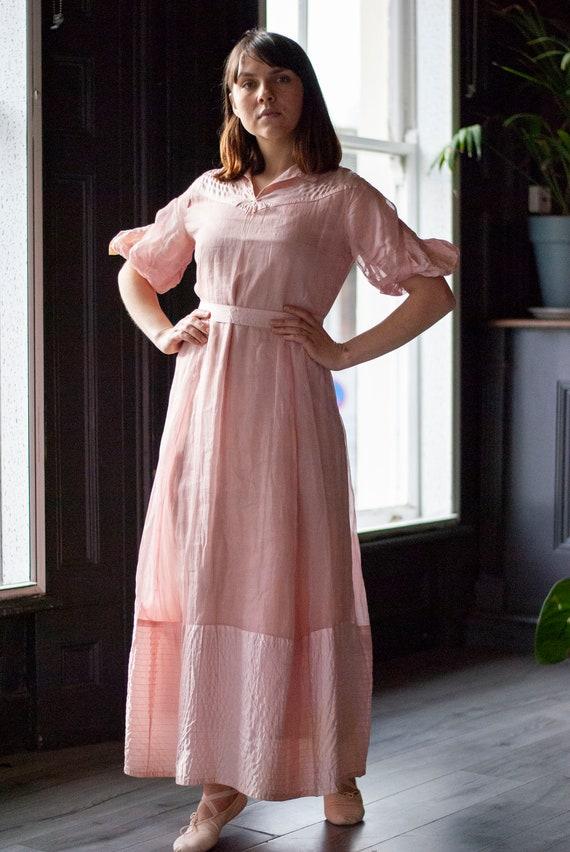 Vintage 1930's Cotton Organza Dress - image 8
