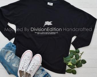 16652844205 Shirt mockup - J. America - Game Day Jersey T-Shirt - 8229 - flat lay -  photography