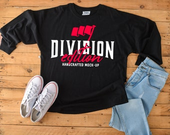 4e6b82debb2 Front   Back Shirt mockup - J. America - Game Day Jersey T-Shirt - 8229 - flat  lay - photography