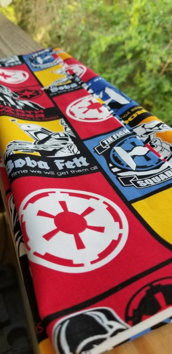 Star Wars Fabric Woven Cotton Fabric Star Wars Cotton Etsy