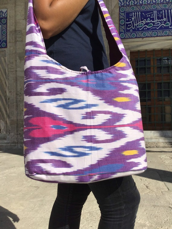 İkat Bag, Uzbek Bag, Silk Cotton, Tote Bag,Bohemia