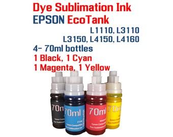 Dye Sublimation Ink Epson EcoTank et-2700 et-2750 et-3700 | Etsy