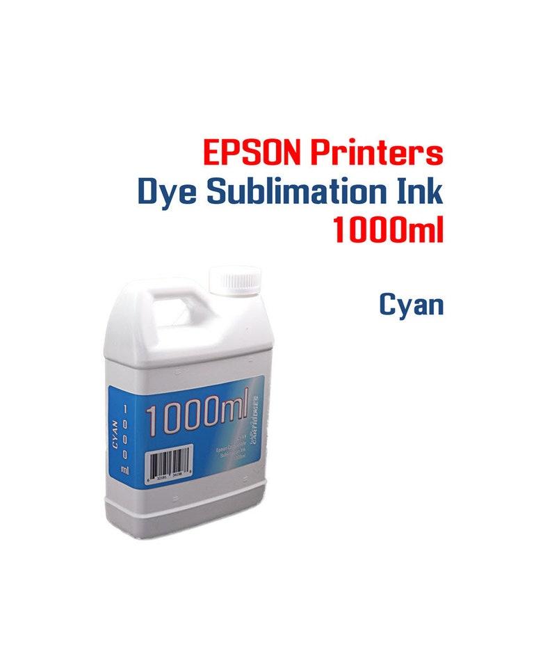 Dye Sublimation Ink - Epson printers - Cyan 1000ml bottles Dye Sublimation  ink