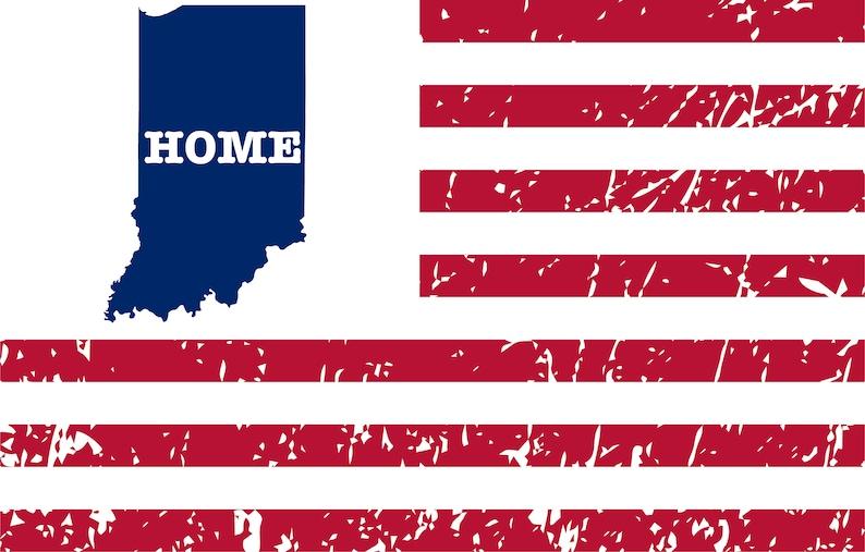Indiana svg Cricut svg Shirt Indiana svg Files svg Designs Distressed Vintage Indiana Map Shirt Iron on Indiana svg Grunge PNG