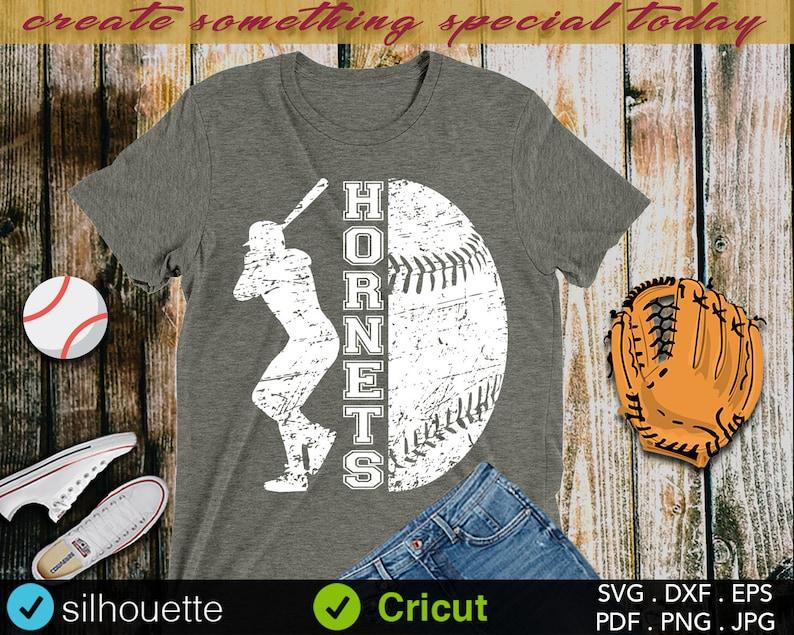 Baseball Grunge Iron on Cut File Cheer svg SvG Sayings Mom svg Baseball SvG School Baseball svg Hornets SVG Baseball Sister svg