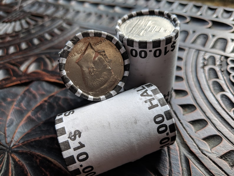 3 Unsearched Bank Sealed Half Dollar Rolls