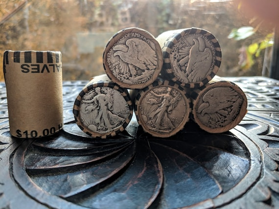 Only 40/% and 90/% Kennedy Franklin Lot UNSEARCHED SILVER HALF DOLLAR COIN ROLL