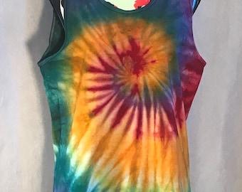 90f375810a85 Rainbow Swirl Tie Dyed Tank