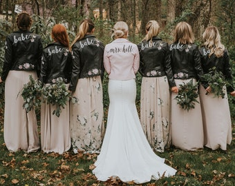 Hand painted Bridesmaid Jacket