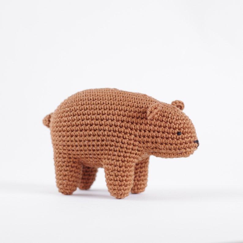 Crochet bear pattern  Amigurumi bear  Realistic bear  image 0
