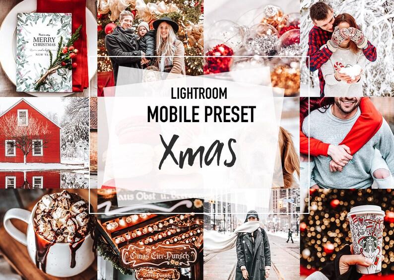 5 Mobile Lightroom Christmas Presets XMAS Winter Holidays image 0