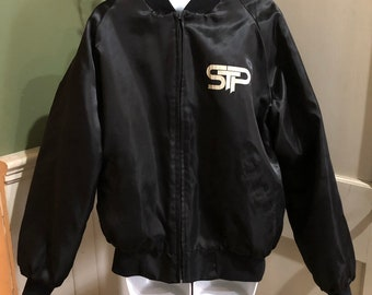 c7b144709e Rare Vintage Stone Temple Pilots STP Rocks Large Black Satin Tour Jacket USA