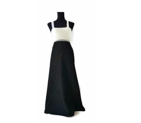 Italian designer skirt Medium 90/'s W LES FEMMES by Babylon woman fishtail transparent flower crochet ladies black skirt