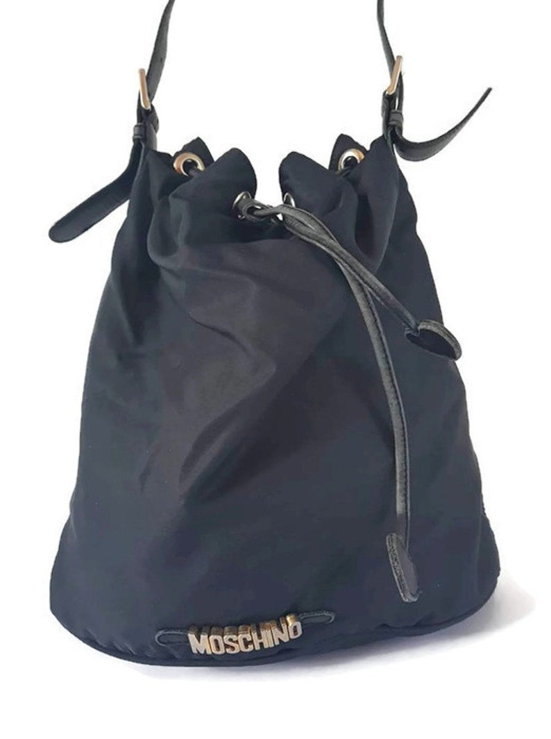 47d88d31878 Sale Moschino Redwall vintage 80 s logo canvas leather
