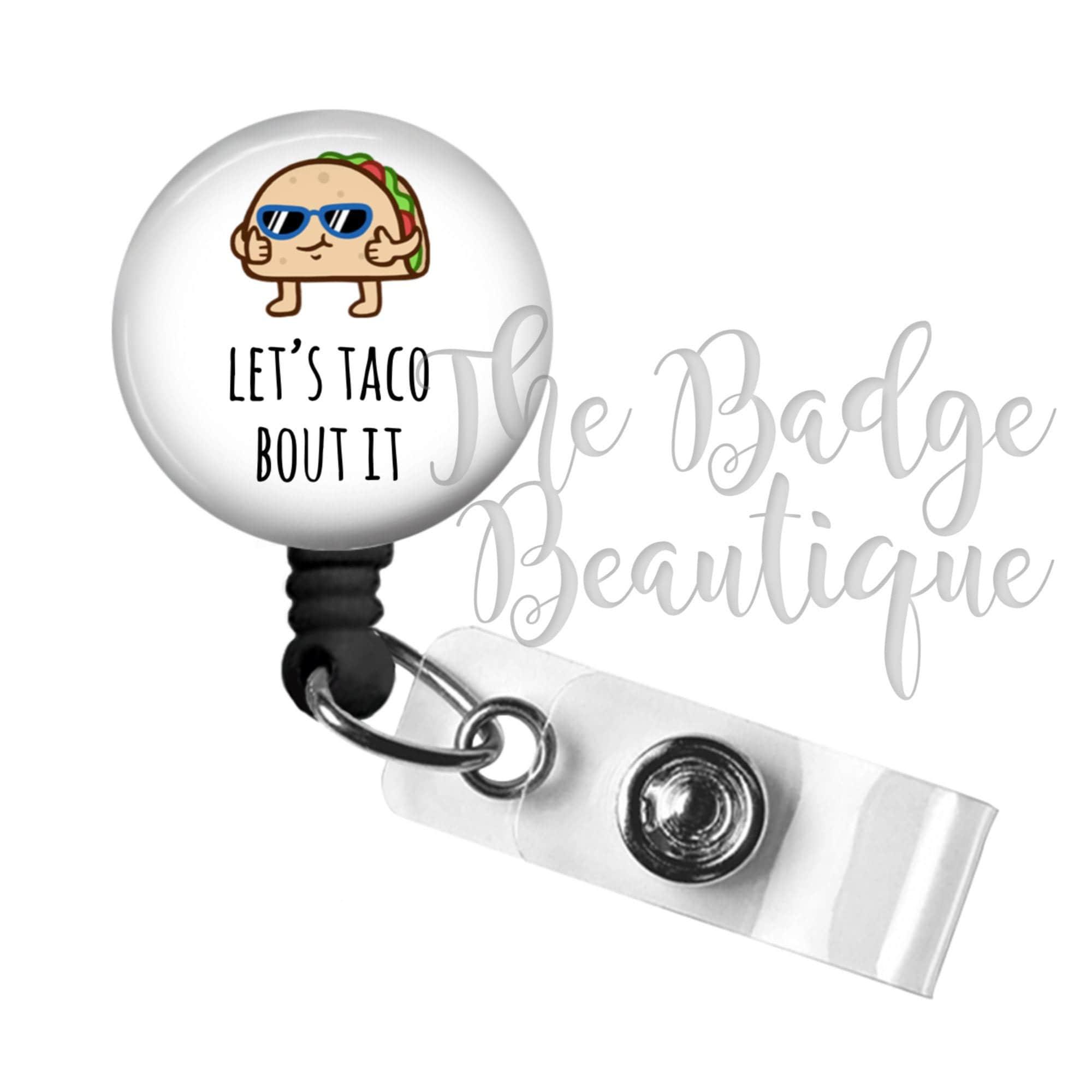 planner clip retractable badge holder yummy taco badge holder