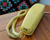 Vintage Telephone Working Retro Phone Gold Trimline Phone Vintage Rotary Dial Phone Gold Phone Vintage Phone Yellow Retro Rotary Telephone