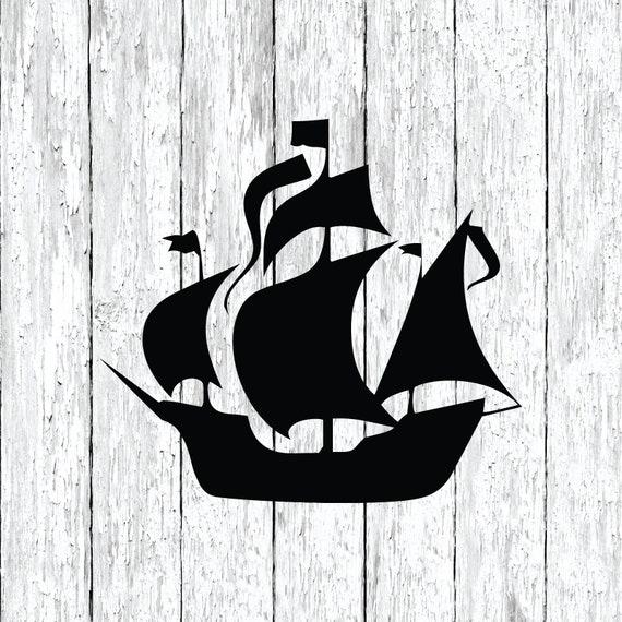 Bateau pirate Voiture Vinyle Autocollant-sélectionnez la taille