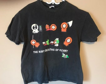 e8ea11f7a South Park The Many Deaths of Kenny Vintage 1998 T-Shirt XL
