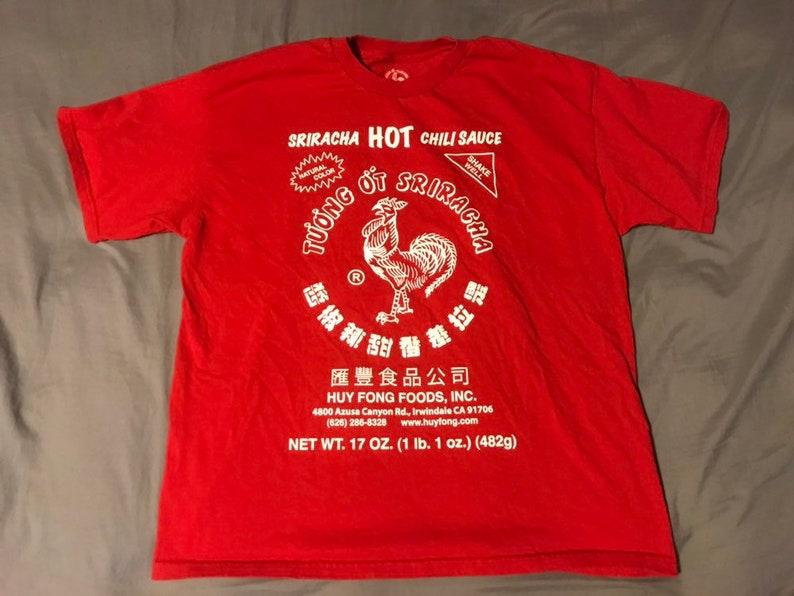 16d6b9f6fcb Sriracha Hot Chili Sauce T-Shirt XL EUC