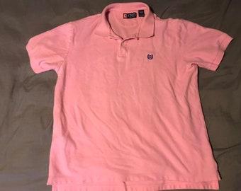 Ralph Lauren Chaps Pink XL Polo Golf Shirt EUC