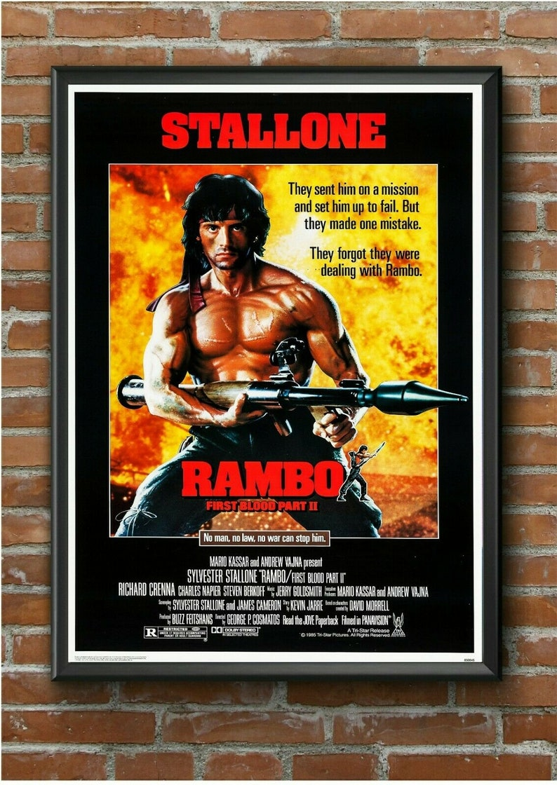 A1 - A2 FIRST BLOOD Theatrical Poster RAMBO