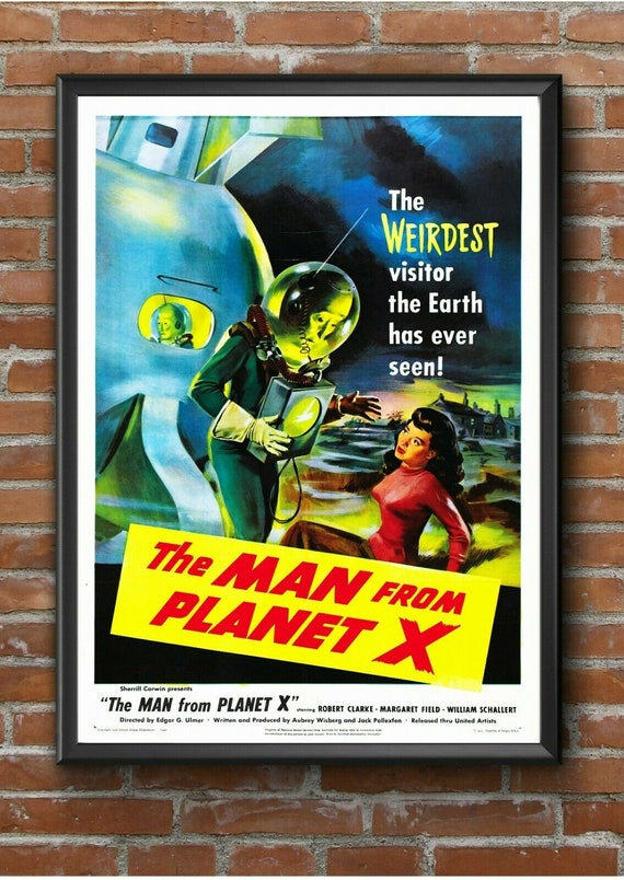 """Retro /""""King of the Rocket Men/"""" Sci Fi Movie Film Poster Print Picture A3 A4 A5"""