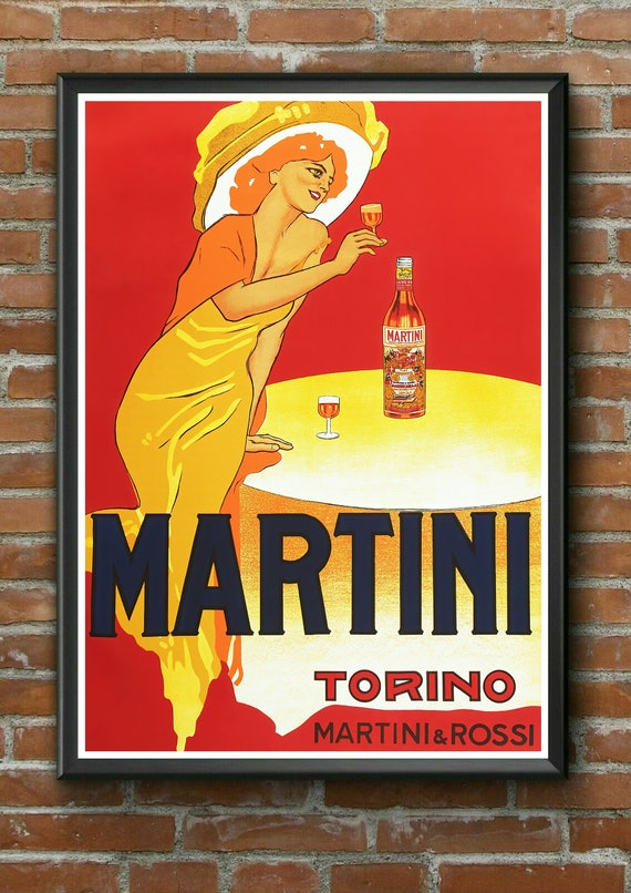Martini Drink Vintage Retro Advertising Poster a1 a2 a3 a4 Sizes