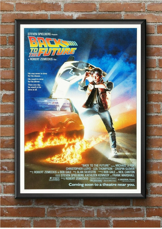BACK TO THE FUTURE MOVIE POSTER FILM A4 A3 ART PRINT CINEMA