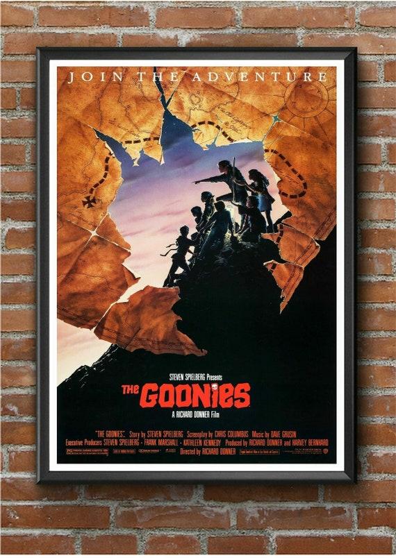 The Goonies Spielberg movie poster print #2