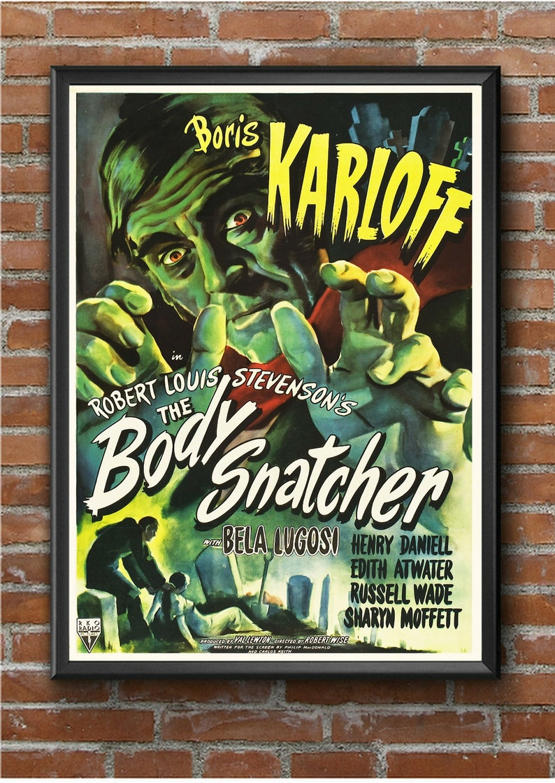 Vintage Bride of Frankenstein Horror Movie Film Poster Print Picture A3 A4 A5