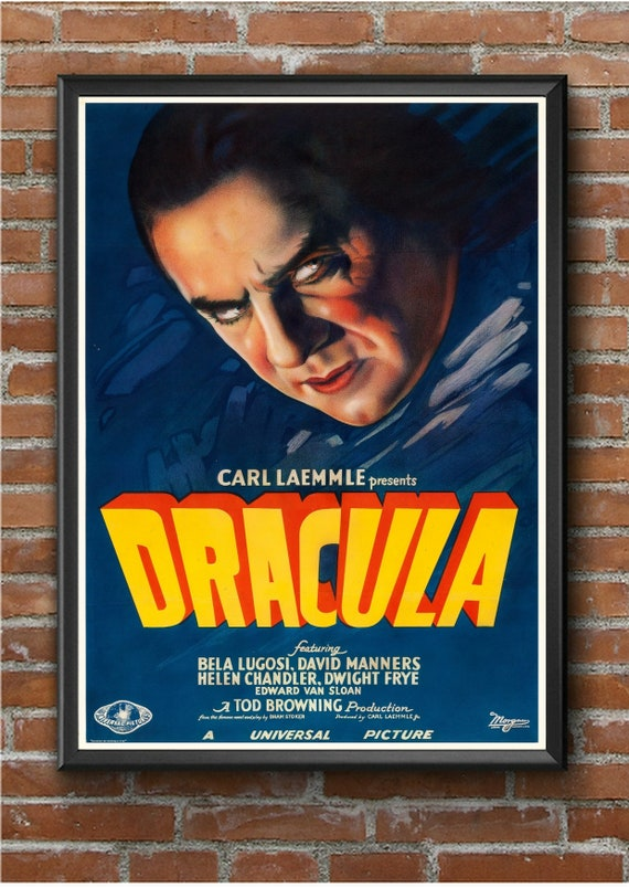 DRACULA BELA LUGOSI VINTAGE MOVIE POSTER FILM A4 A3 A2 A1 ART PRINT CINEMA