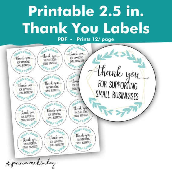 photograph regarding Small Printable Labels referred to as Printable Thank Yourself For Helping Very little Firms Retailer