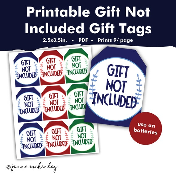photograph about Gift Not Included Printable named Printable Present not Integrated Amusing Gag Reward for Batteries