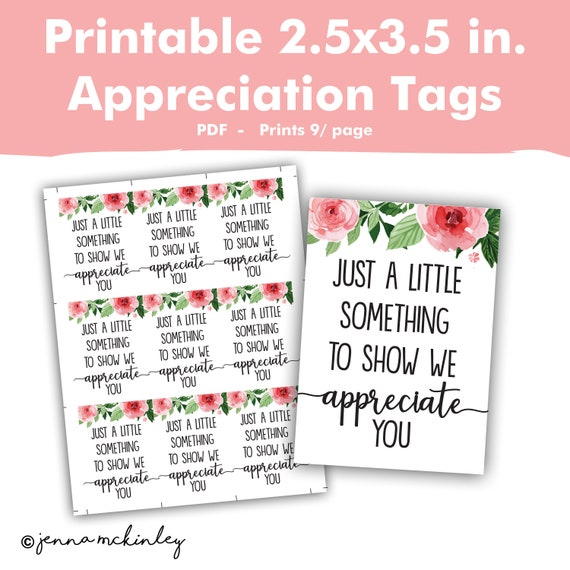 image relating to Small Printable Labels identify Printable Appreciation Reward Tags, Pondering of Oneself Labels